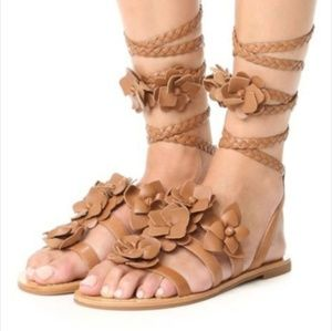 """TORY BURCH """"BLOSSOM"""" LEATHER GLADIATOR SANDALS,"""